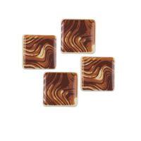 Квадратики маленькие с рисунком из белого шоколада