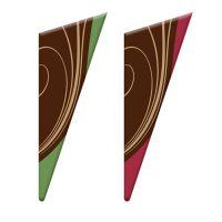 Шоколадный декор треугольник из темного шоколада 28*77 мм, 96 шт.