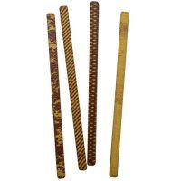 Шоколадный декор трубочки (золотистые)