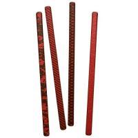 Шоколадный декор трубочки (красные)
