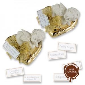 Ангелочек на шоколадном сердце, 10 шт., Günthart