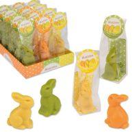 Фигурки марципановые кролики, разноцветные
