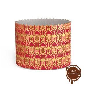 Форма бумажная для кулича PA70/85 зол.КУПОЛА красная, 3000 шт.