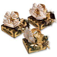 Новогодний керамический декор для стола на коробочке с конфетами, 12 шт.