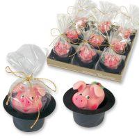 Фигурки марципановые свинка в цилиндре, маленькая