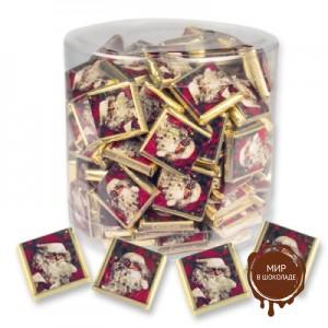 """Шоколадки """"Дед Мороз"""" в пластиковой банке, 270 шт."""