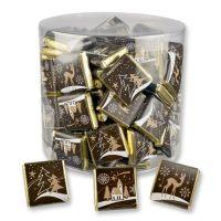 Новогодние шоколадки в пластиковой банке, 270 шт.