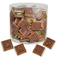 Новогодние шоколадки с нугой в пластиковой банке, 270 шт.