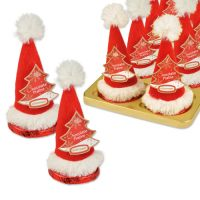 Колпак Деда Мороза на шоколадном диске, 16 шт.