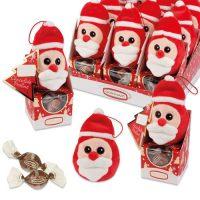 Плюшевый Дед Мороз на коробочке с пралине, 12 шт.