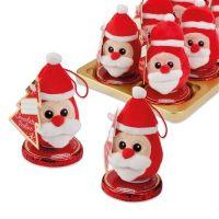 Плюшевый Дед Мороз на шоколадном диске, 16 шт.