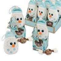 Плюшевый снеговик на коробочке с пралине, 12 шт.