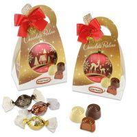 Новогодняя сумочка с конфетами 3х видов, 12 шт.