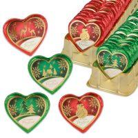 Шоколадные сердца с новогодними мотивами, 40 шт.