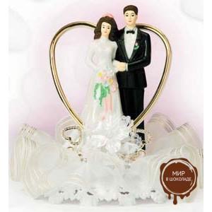 Набор жених и невеста в сердце, 6 шт.
