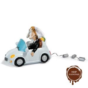 Набор жених и невеста на машине, 2 шт.