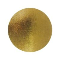 Подложка картонная круглая №8 золото, 50 шт.