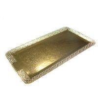 Поднос прямоугольный золото ЛЕОНАРДО 16х30 см., 50 шт