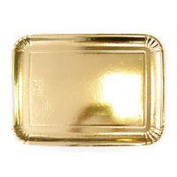 Поднос ЭЛИТ картонныйпрямоугольный золотой 39,5x29,5 см, 80 шт