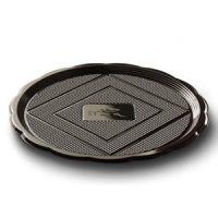 Поднос МЕДОРО пластиковый кругл.черный 22 см., 125 шт