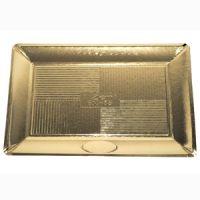 Поднос ДЗЕН картонный прямоугольный золотой 21x15 см., 200 шт