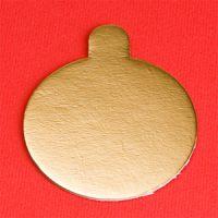 Подложка картонная круглая с ручкой №8 золото, 200 шт.