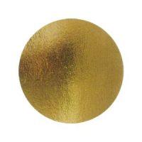 Подложка картонная круглая №12 золото, 50 шт.