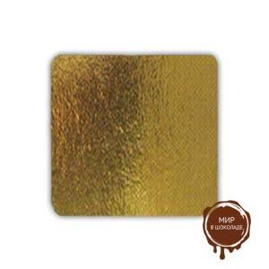 Подложка квадратная 15х15 см. золото, 50 шт.