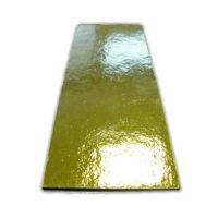Подложка прямоугольная 4,5х13 см. золото, 100 шт.