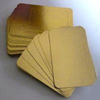 Подложка прямоугольная 15х20,5 см.золото, 50 шт.