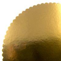 Подложка Фигурная круглая золото, 30 см, 50 шт.
