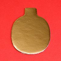 Подложка овальная с ручкой 10х6,5см золото, 200 шт.