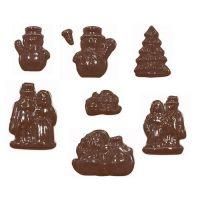 """Форма для отливки шоколадных фигурок - """"Елка и Снеговик"""" (90-4307), шт."""