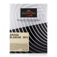 Белый шоколад Ariaga в дисках, 30% какао, Valrhona, 5 кг.