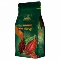 МОЛОЧНЫЙ КУВЕРТЮР ALUNGA 41% какао, монеты, Cacao Barry /Франция/, 1 кг.