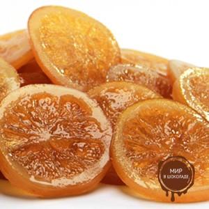 Апельсиновые засахаренные дольки АМБРОЗИО, короб 5 кг.
