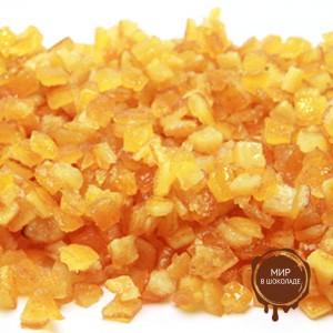 Апельсиновая корочка засахаренные кубики 6х6 мм. АМБРОЗИО, 5 кг.