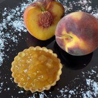 Начинка вишневая Альпен Персик с кусочками фруктов 40%, 10 кг.