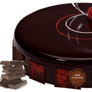 Гель зеркальный для покрытия Темный шоколад(хол. прим-я) FO Glasso Cold Sauce Chocolate, 5 кг.