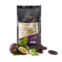 Черный шоколад Итакуйя (с маракуйей) 55% какао, Valrhona, 3 кг.