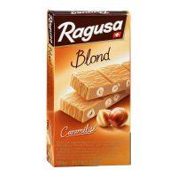 Белый шоколад Ragusa Blond с трюфельной начинкой и целыми лесными орехами, 100г .