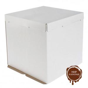 Упаковка для торта , белая, 260х260 h120мм (75 шт)