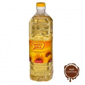 """Масло подсолнечное  Sunny Gold рафинированное дезодорированное """"Урожайное"""" (1л*15бут)"""
