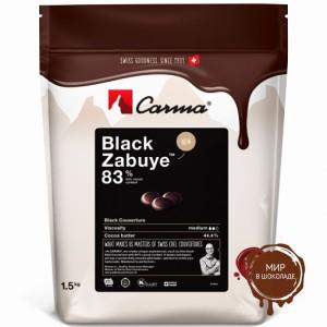 BLACK ZABUYE, ГОРЬКИЙ ЧЕРНЫЙ ШОКОЛАД В МОНЕТАХ, 83% какао, Carma Barry Callebaut /Швейцария/, 1,5 кг.
