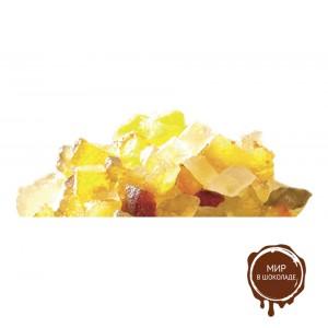 Фруктовый салат - кубики 6*6 мм  (без сиропа фольга)? 3 кг