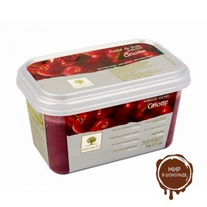 Замороженное пюре Вишня Griotte, в блоке Ravifruit, Франция, 1 кг.