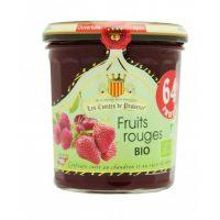 Джем из красных ягод (клубника, вишня, малина, красная смородина) Organic 350гр, 64% фруктов