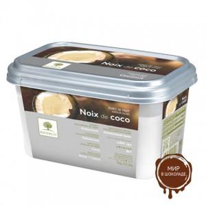 Замороженное пюре Кокос дробленый со стружкой, в блоке Ravifruit, Франция, 1 кг.