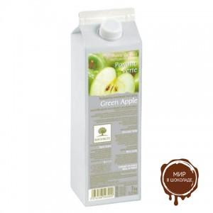 Пастеризованное пюре в тетрапаке Зеленое яблоко Ravifruit, 1 кг.