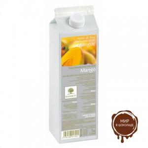 Пюре пастеризованное манго РАВИФРУТ, тетрапак 1 кг.